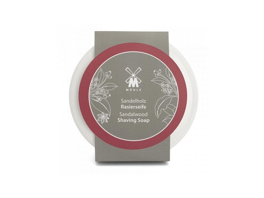 Mýdlo na holení v porcelánové misce Sandalwood Mühle 65 g