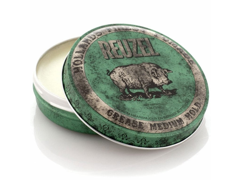 Reuzel Green Grease Medium Hold Piglet, pomáda na vlasy 113 g