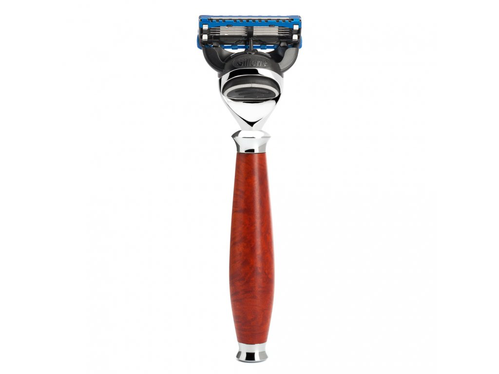 Holicí strojek Purist Briar Wood Mühle Gillette Fusion