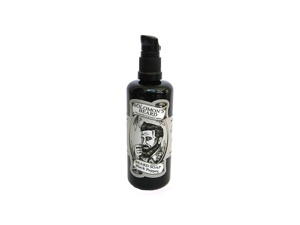 Tekuté mýdlo na vousy Solomons Beard Black Pepper 100 ml