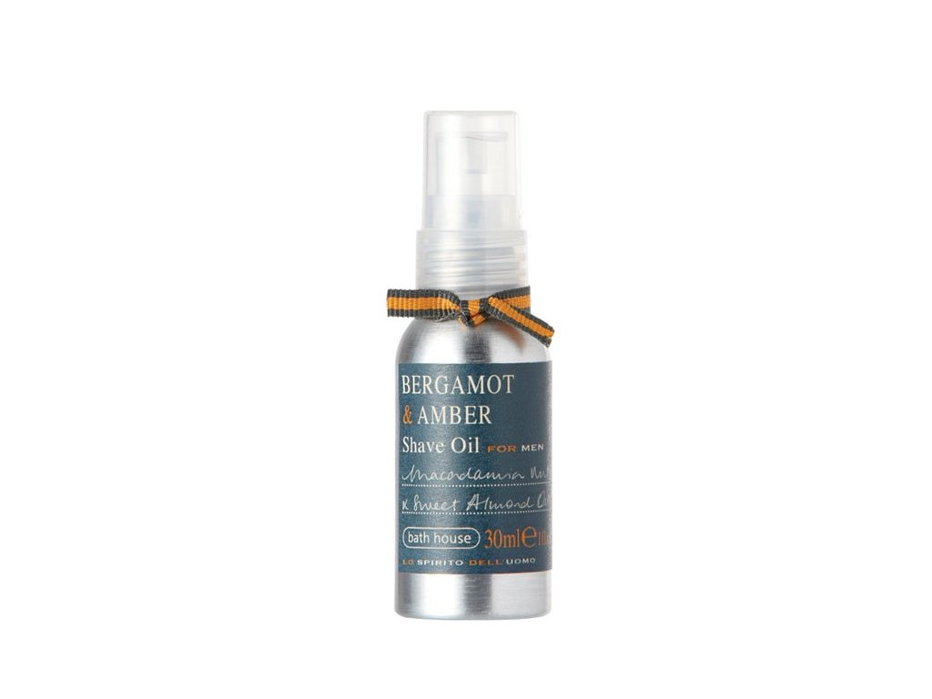 Olej před / na holení Bergamot & Amber Bath House 30 ml