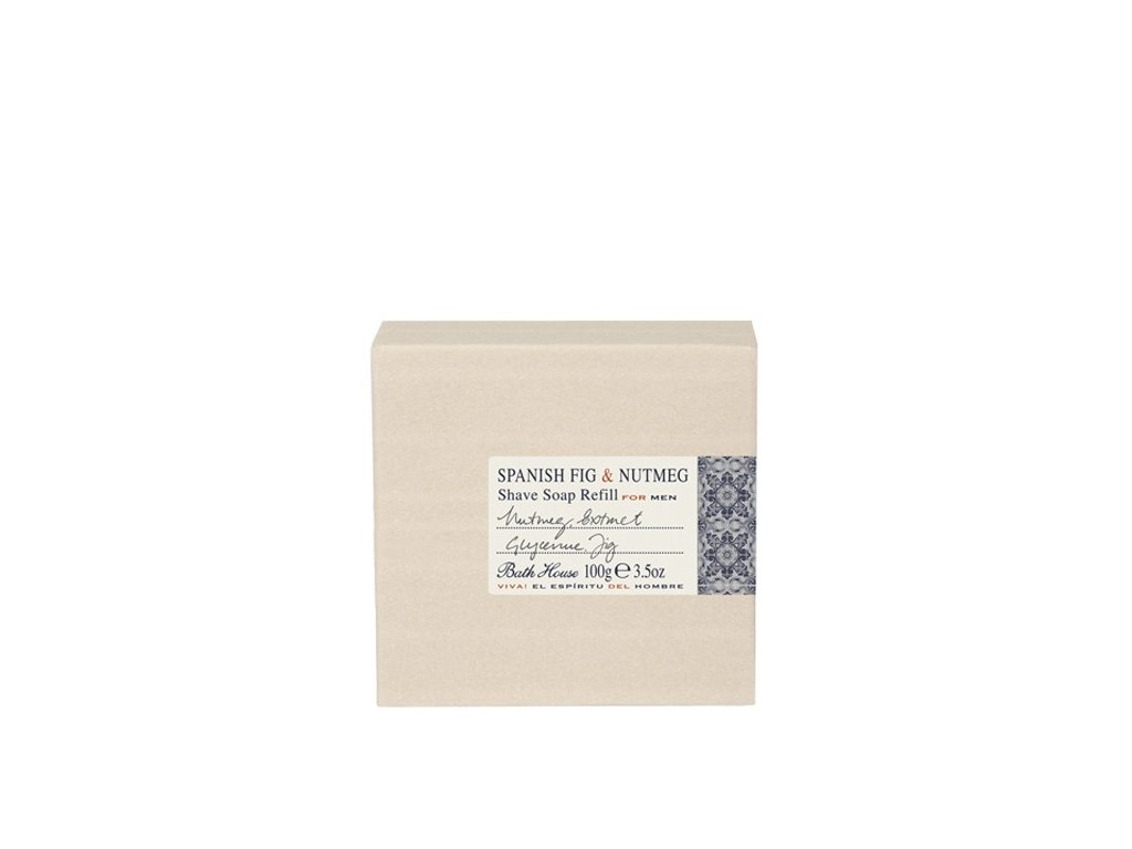Mýdlo na holení Bath House Spanish Fig & Nutmeg 100 g