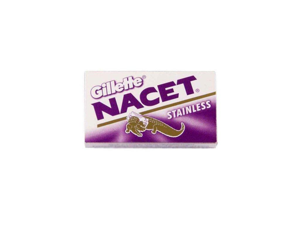 Žiletky na holení Gillette Nacet Stainless (5 ks)