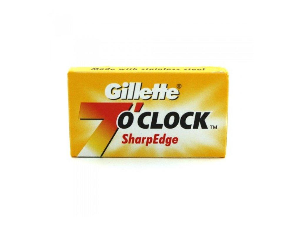 Žiletky na holení Gillette 7 Oclock Sharp Edge (5 ks)