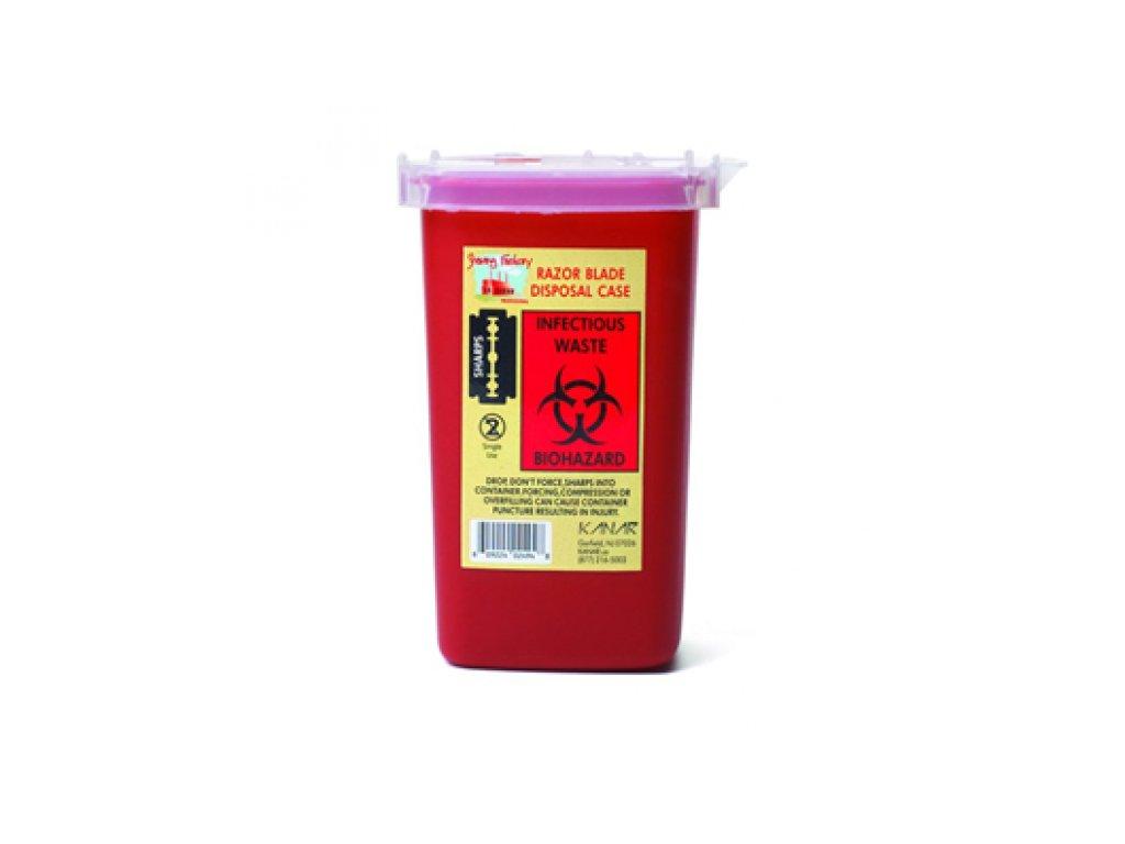 Plastový kontejner na použité žiletky