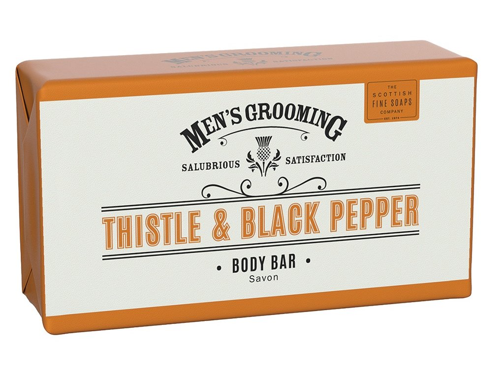 scottish fine soaps thistle and black pepper mydlo