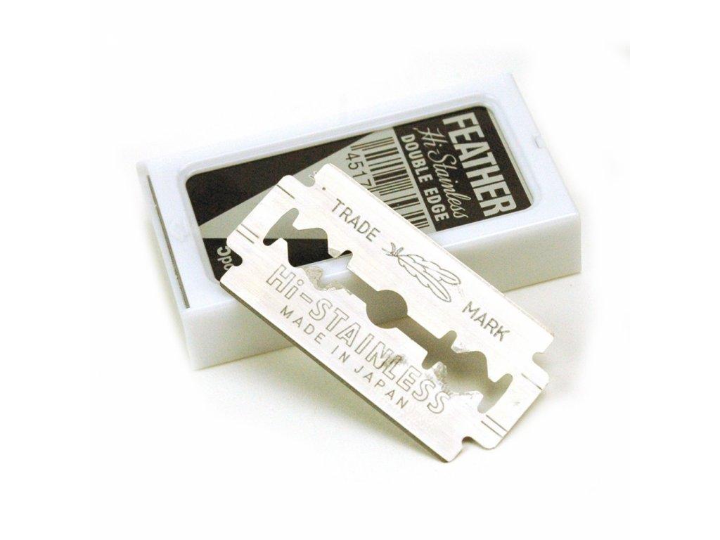 Žiletky na holení Feather Hi-Stainless Double Edge (5 ks)