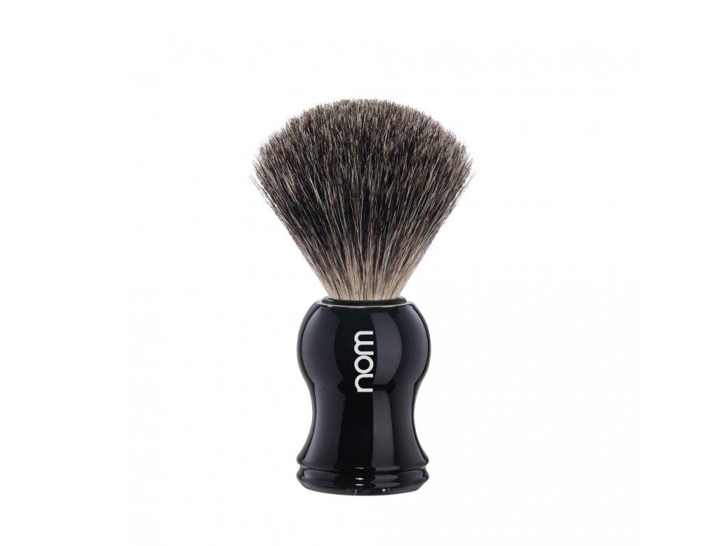 Štětka na holení z jezevčích vlasů NOM Black