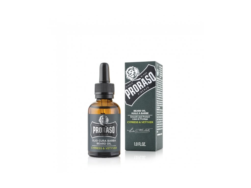 Olej na vousy Proraso Cypress and Vetyver 30 ml