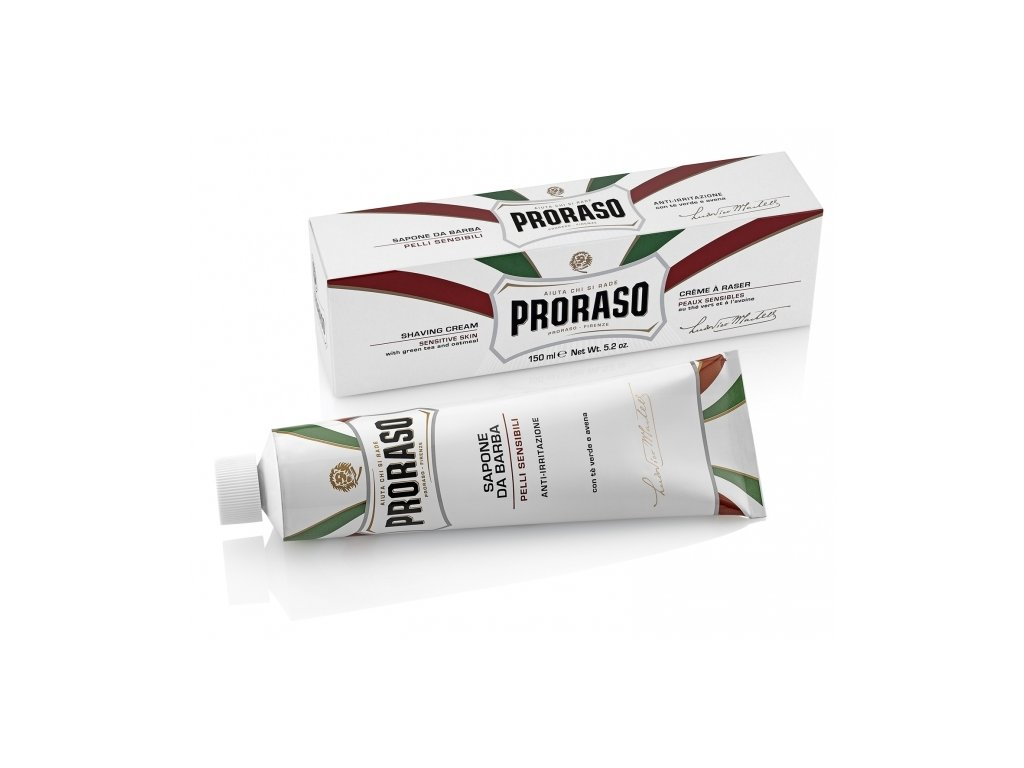 Krém na holení pro citlivou pokožku v tubě Sensitive Proraso 150 ml