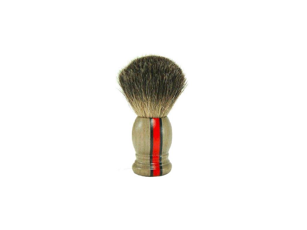 Štětka na holení Hans Baier Laminated Wood Red Stripe Pure Badger