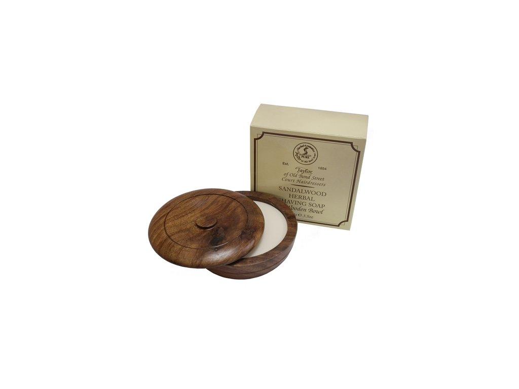 Mýdlo na holení s dřevěnou miskou Sandalwood Taylor of Old Bond Street 100 g