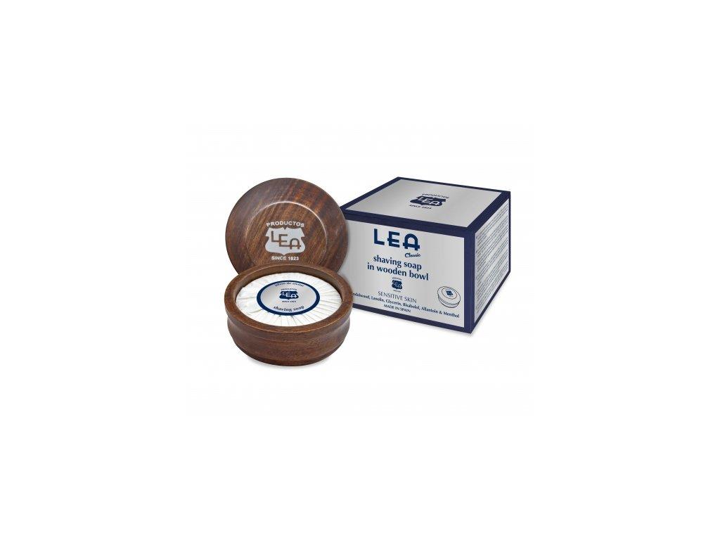 Mýdlo na holení v dřevěné misce Classic Lea 100 g