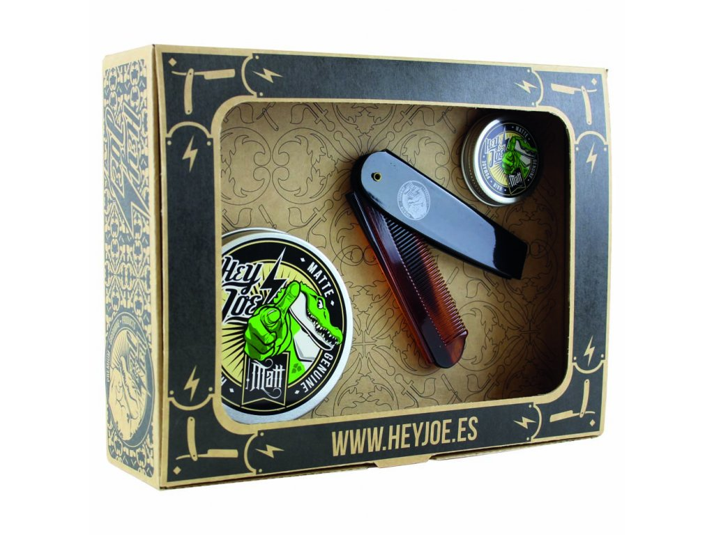 sada na vlasy hey joe pomade survival kit matte