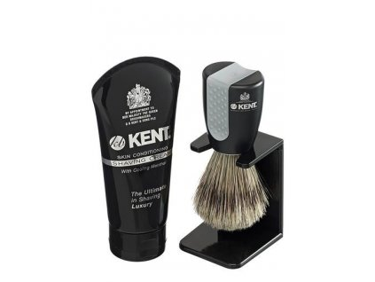 Sada na holení Kent Wet štětka a krém