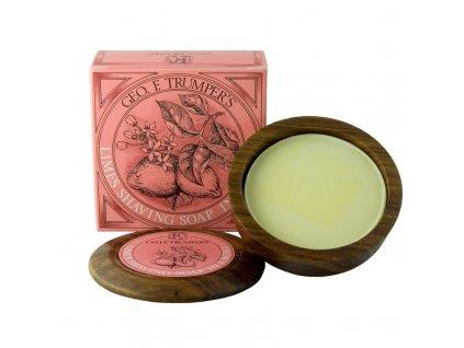 Mýdlo na holení s dřevěnou miskou Limes Geo F. Trumper 80 g