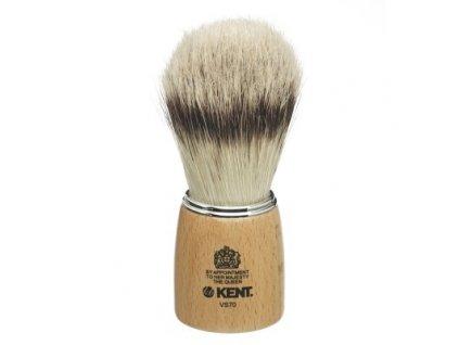 Štětka na holení s dřevěnou rukojetí Kent Wooden Pure Bristle