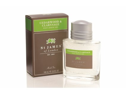 Gel po holení St James of London Cedarwood & Clarysage 100 ml