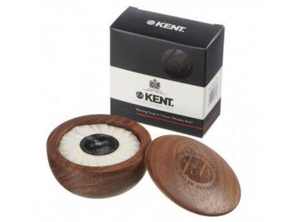 mydlo na holeni s drevenou miskou kent