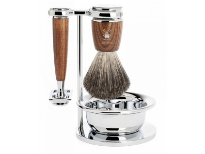 4-dílná sada na holení Mühle Rytmo Ash Pure Badger