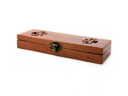Dřevěná dárková krabička na břitvy A. P. Donovan