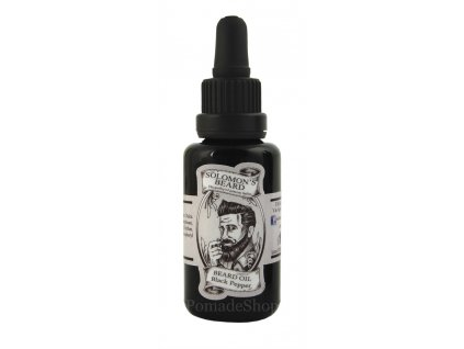 Olej na vousy Solomons Beard Black Pepper 30 ml