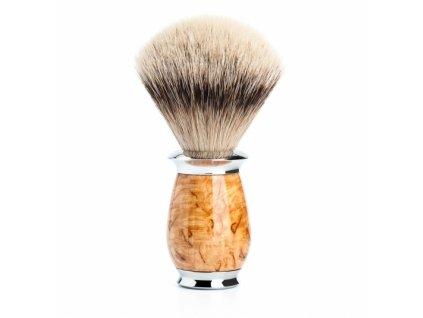 Štětka na holení Mühle Purist Karelian Burl Birch Silvertip Badger