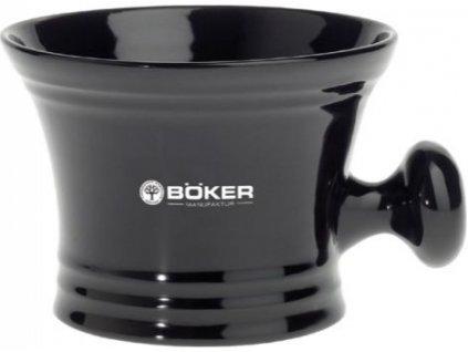Černá porcelánová miska na holení s rukojetí Böker