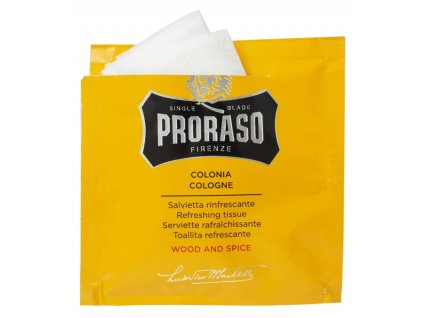 vlhcene ubrousky proraso wood and spice