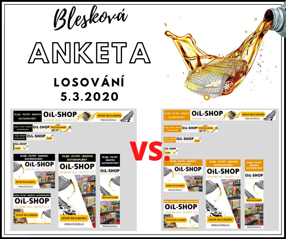 Pomozte nám s výběrem barvy pro novou kampaň OiL-SHOP.cz