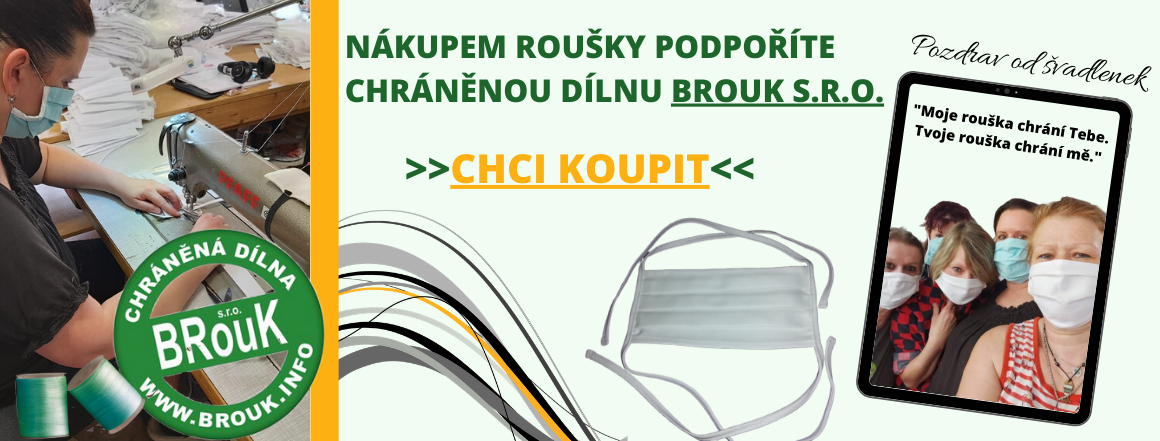 Roušky-chráněné dílny-BROUK s.r.o.