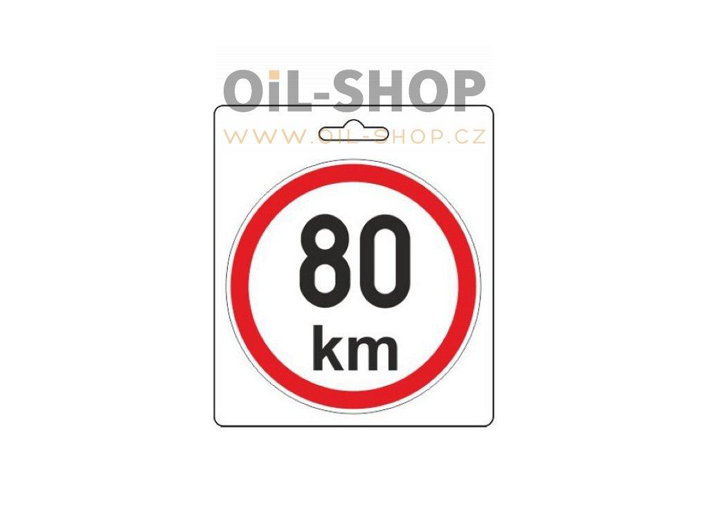 Samolepka 80km/h