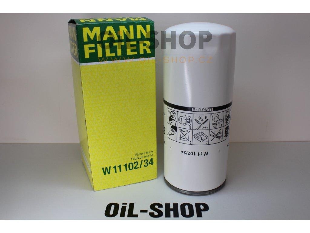 Mann Filtr Olejový W11102/34