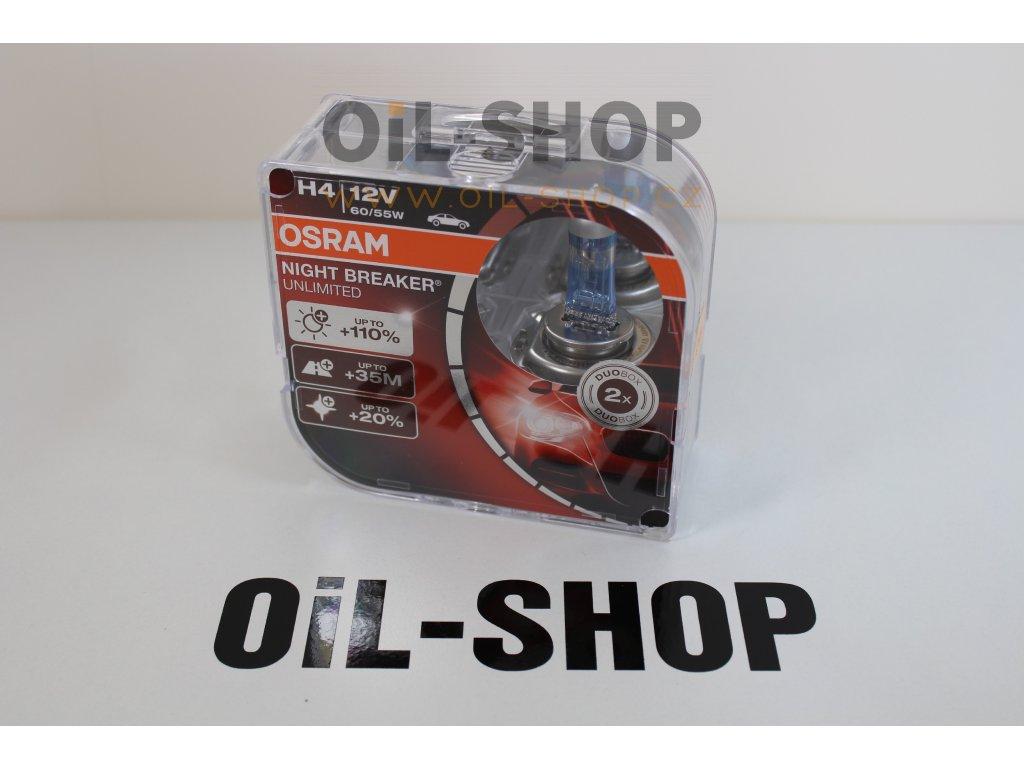 Osram H4 Night Breaker Unlimited Box P43t 12V 60/55W 2ks