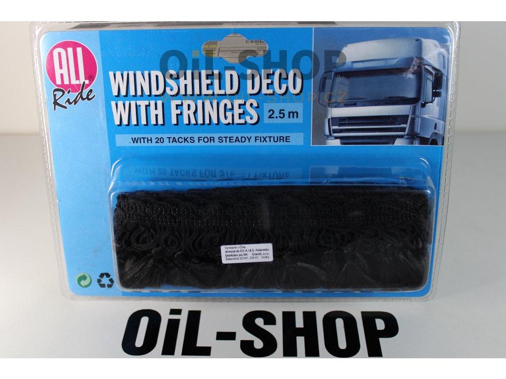 ALL RIDE Truck třásně čelního okna (černé)