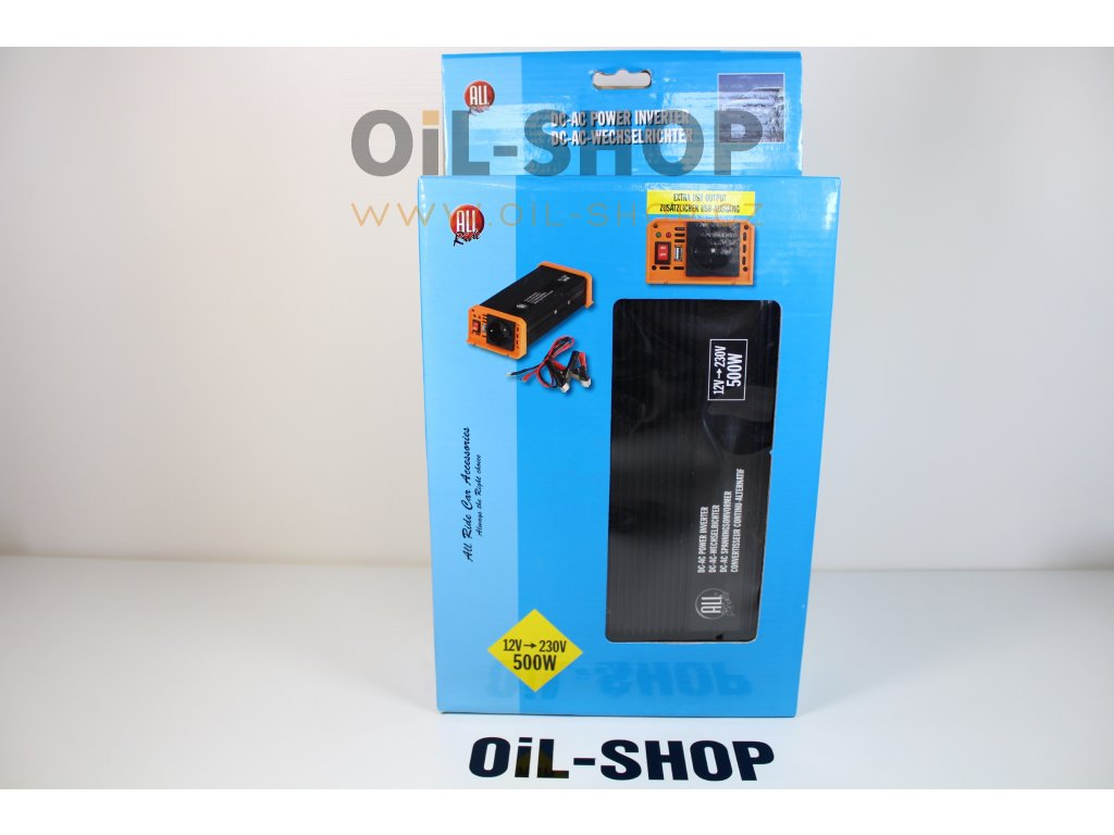 ALL RIDE Měnič 12V/500W USB