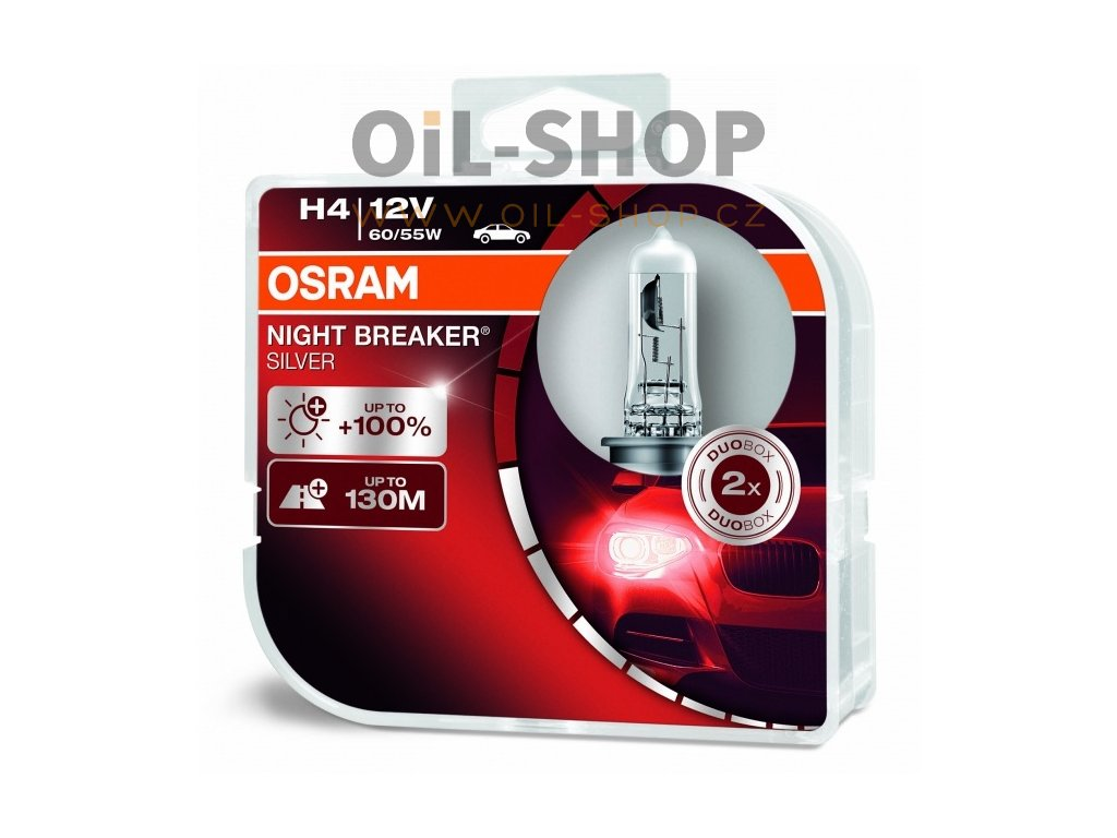 zarovky h4 osram night breaker silver plus 100 procent duo box 2 ks 64193nbs hcb