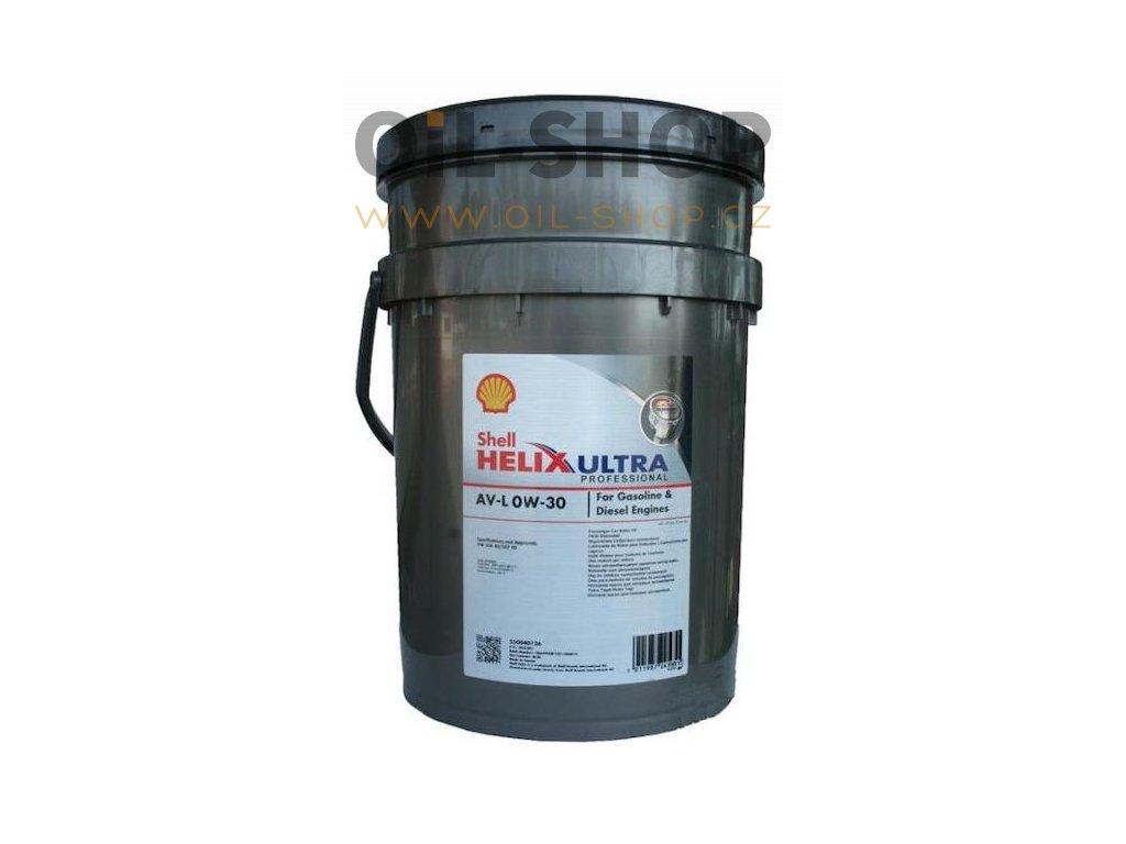 shell helix ultra av l 0w 30 professional 20l 1074032