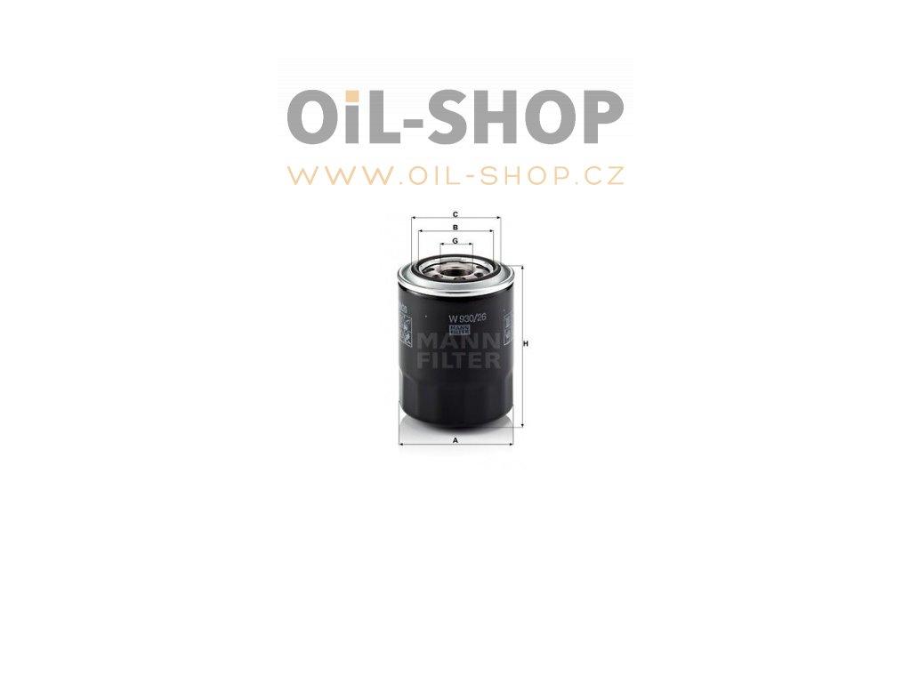 olejovy filtr mann w930 26 mf w930 26 hyundai kia default