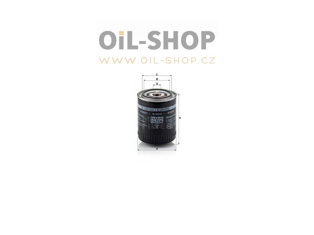 olejovy filtr mann w930 21 mf w930 21 audi vw default