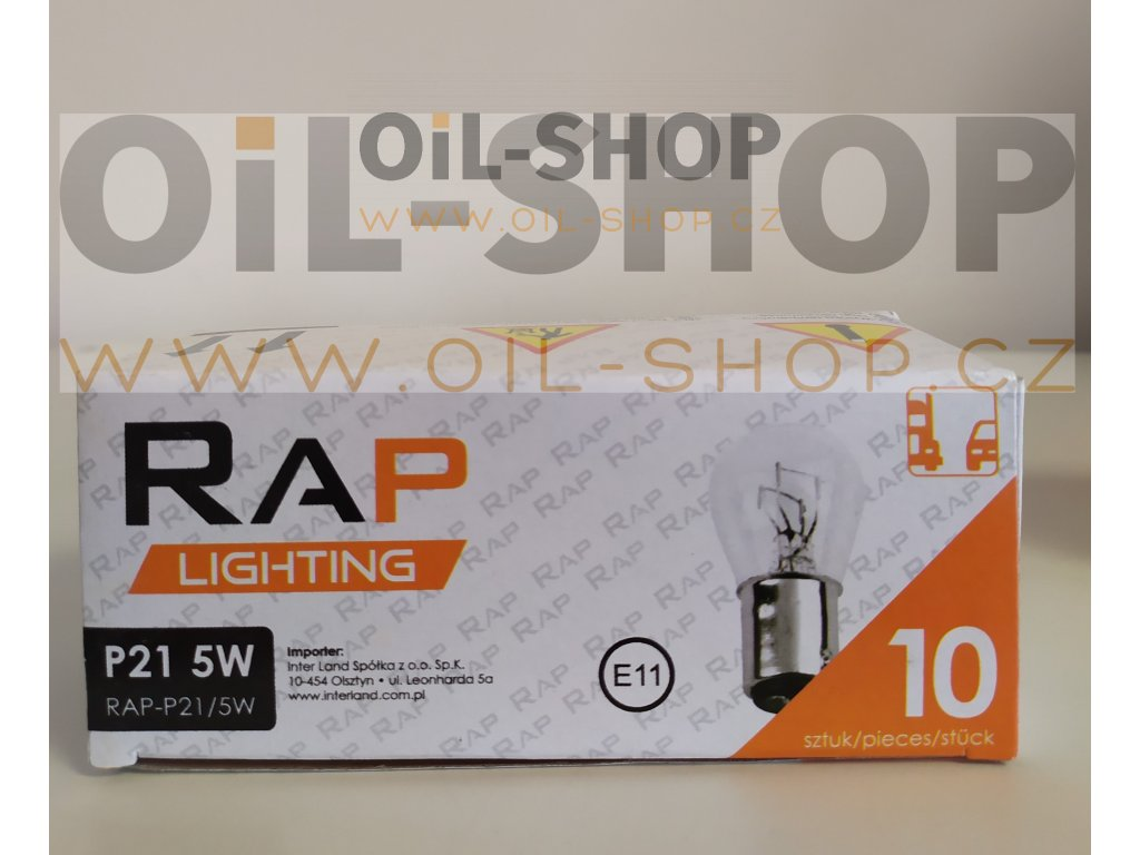 RAP Lighting 12V P21/5W