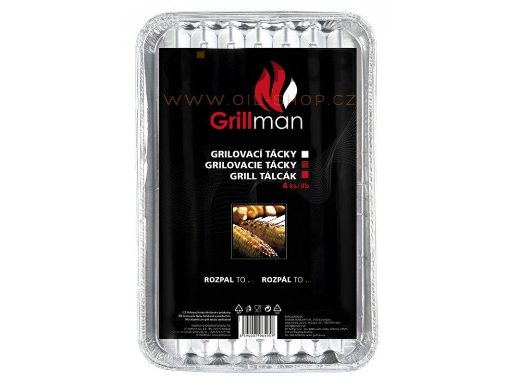 Grillman Grilovací Tácky 4ks