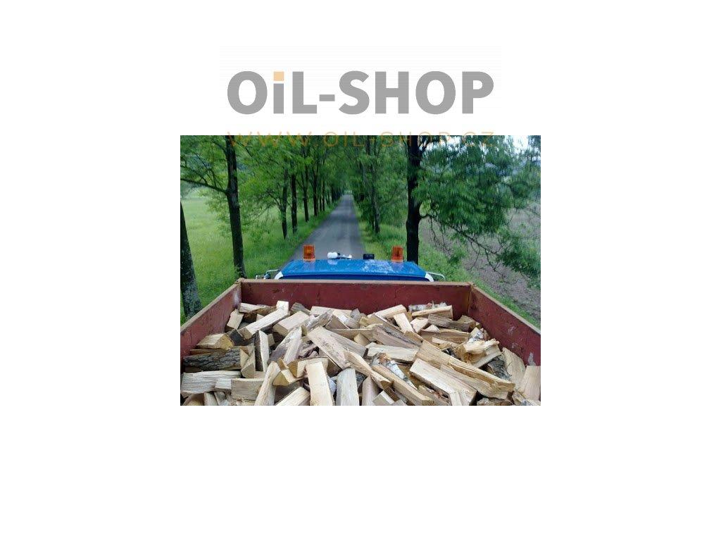 Palivové dřevo, MIX TVRDÉ kontejner vysoký (8 prms)
