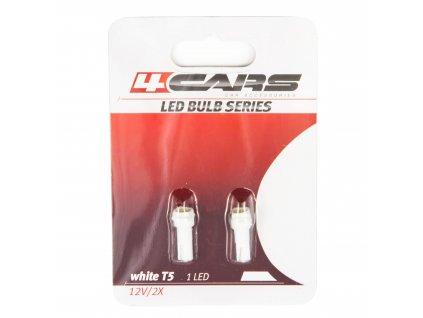 4CARS LED Žárovka 1LED 12V 5050SMD T5 Bílá