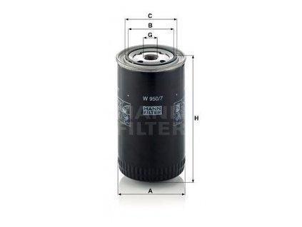 hydraulicky filtr mann w950 7 mf w950 7 renault trucks default