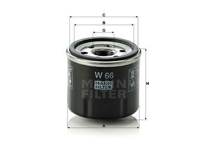 olejovy filtr mann w66 mf w66 dacia renault default