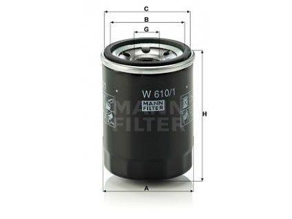 olejovy filtr mann w610 1 mf w610 1 subaru suzuki original
