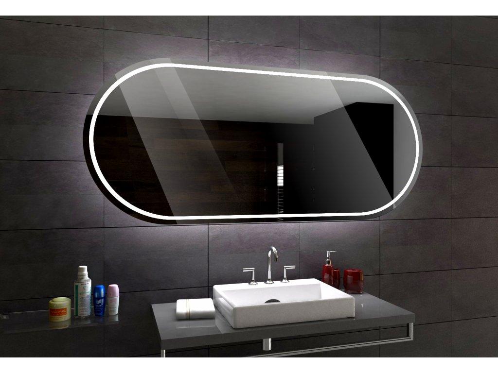 PALERMO oválné zrcadlo s LED osvětlením a chytrými doplňky