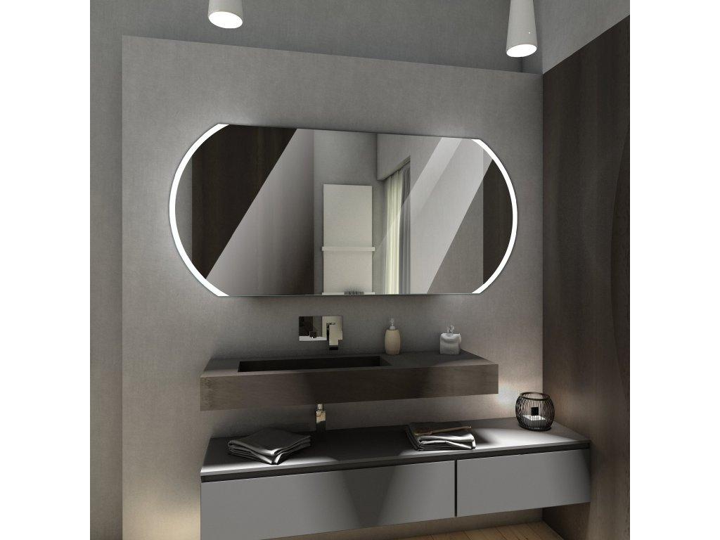 baltimore chytré zrcadlo s LED osvětlením, obdélníkové zrcadlo se zaoblenými hranami