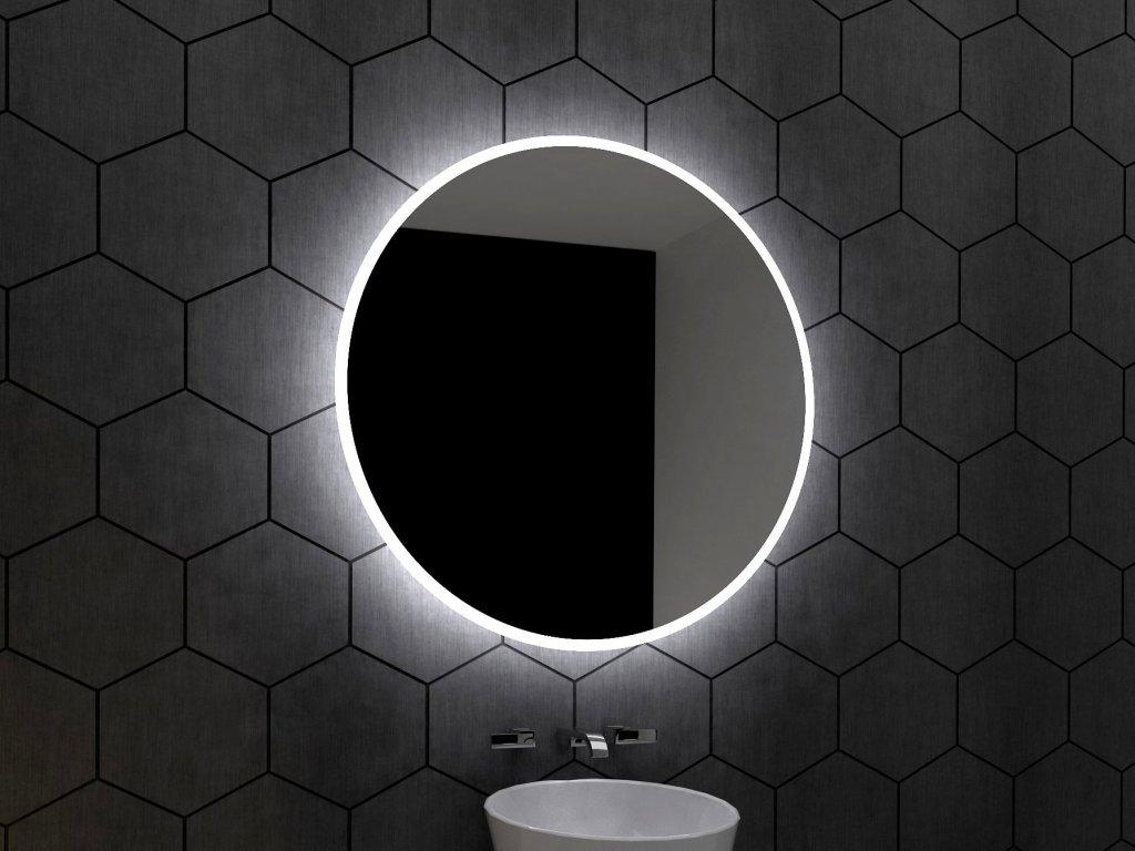 DELPHI kruhové LED zrcadlo s chytrými doplňky